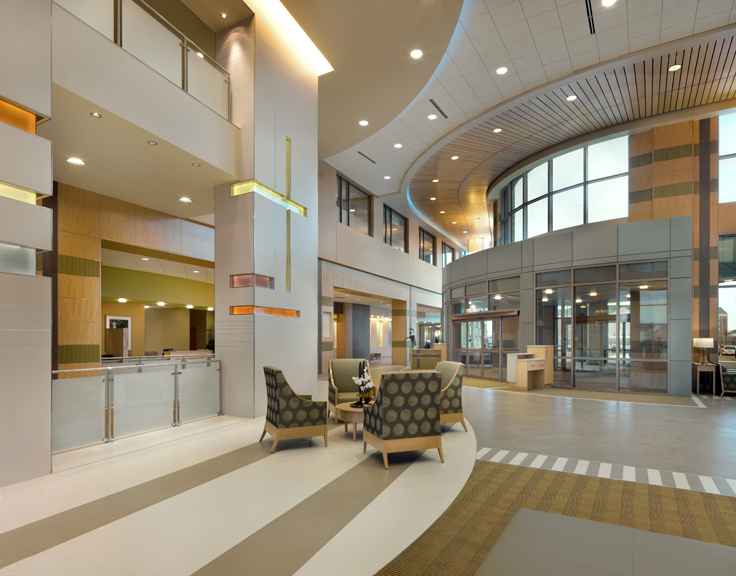 Hospital Lobby Design at Soin Medical Center