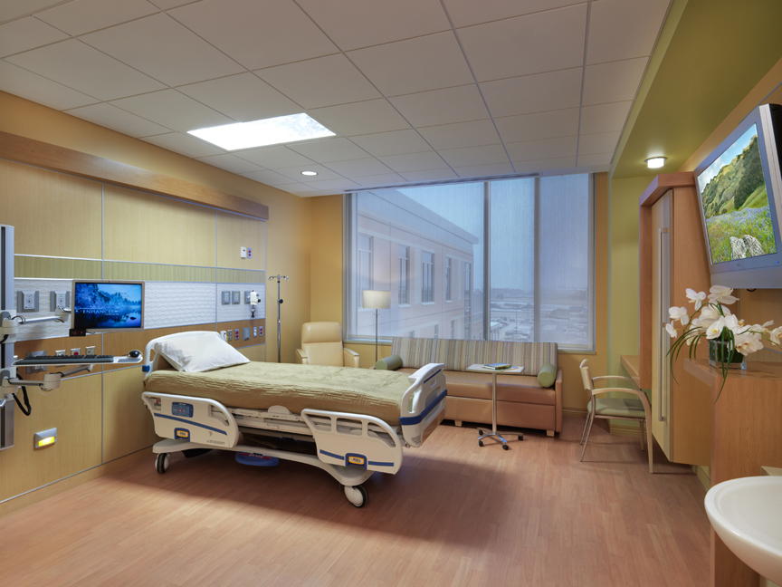Patient Room at Soin Medical Center